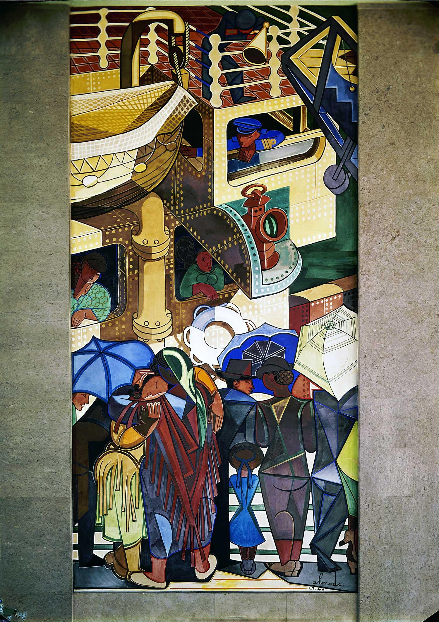 Gare Marítima da Rocha do Conde de Óbidos, Lisbon Artist: José de Almada Negreiros  Photo: Mário Novais, ca. 1943-1945, Lisbon  [CFT003_082280]