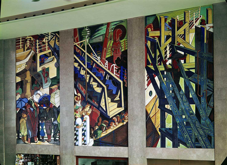 Gare Marítima da Rocha do Conde de Óbidos, Lisbon Artist: José de Almada Negreiros  Photo: Mário Novais, ca. 1943-1945, Lisbon  [CFT003_082282]