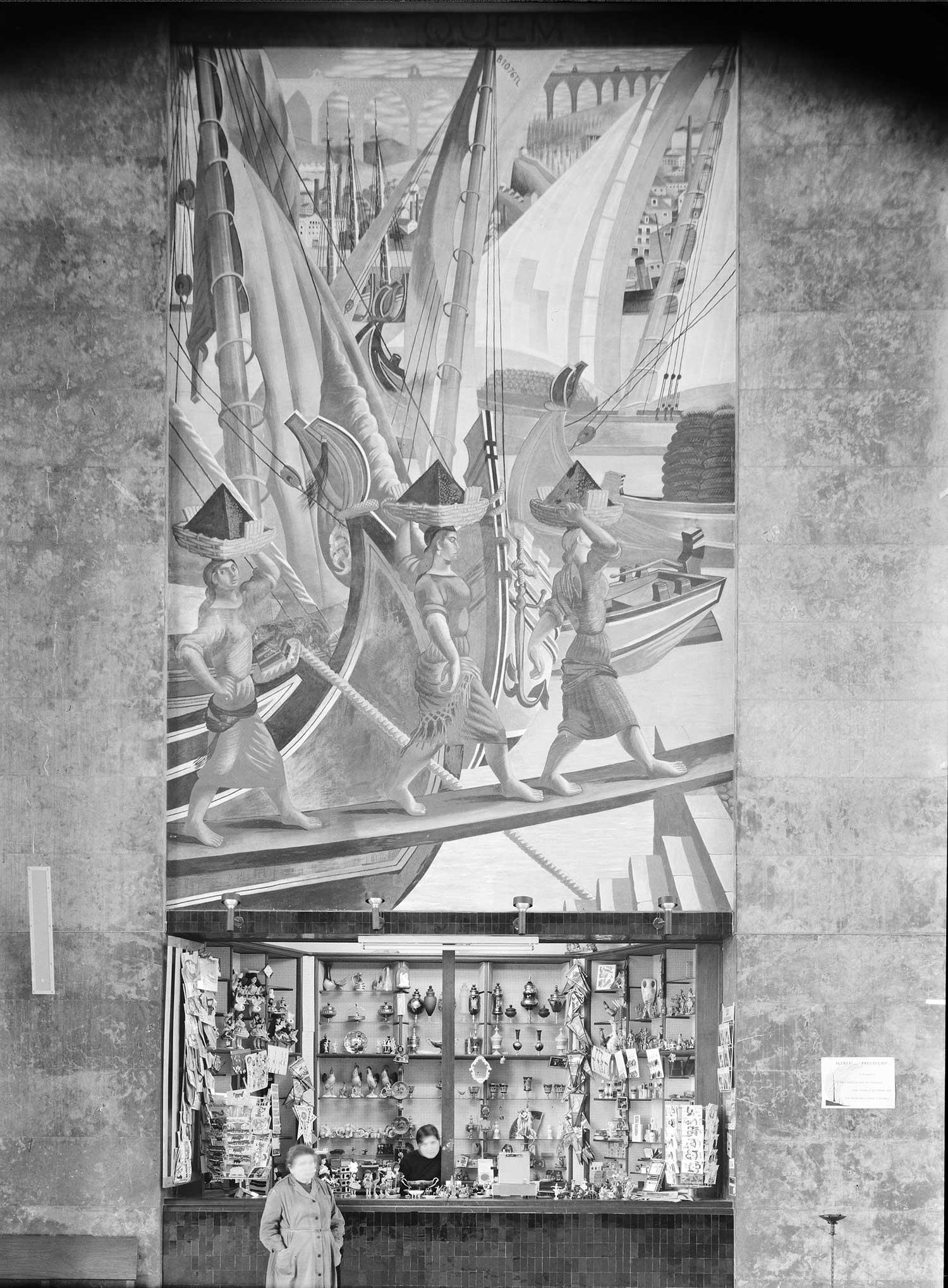 Gare Marítima de Alcântara, Lisbon Artist: José de Almada Negreiros  Photo: Mário Novais, ca. 1943-1945, Lisbon  [CFT003_033114]
