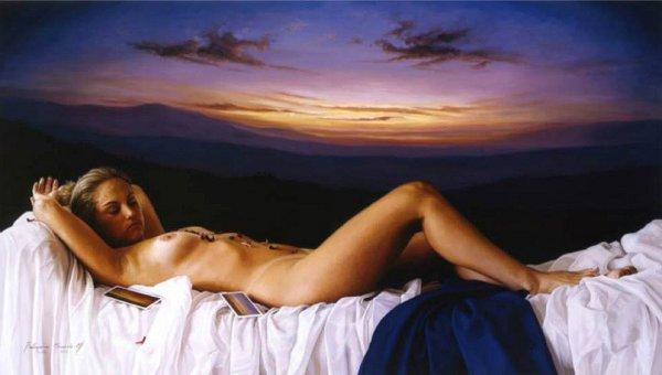 Belarmino Miranda Montoya Petalos Original Oil Painting 1999 belarminomiranda belarminomirandamontoya oilpainting petalos