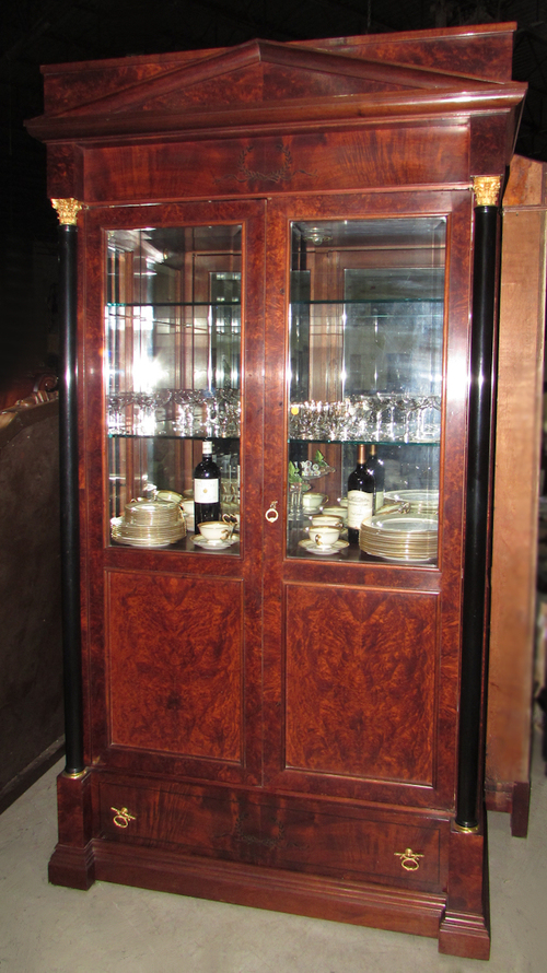 Italian Biedermeier China Cabinet