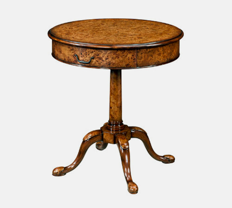 SOLD Theodore Alexander Georgian Drum End Table