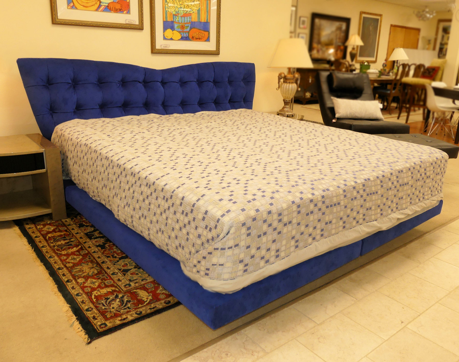 SOLD  il Loft Tufted King Size Platform Bed