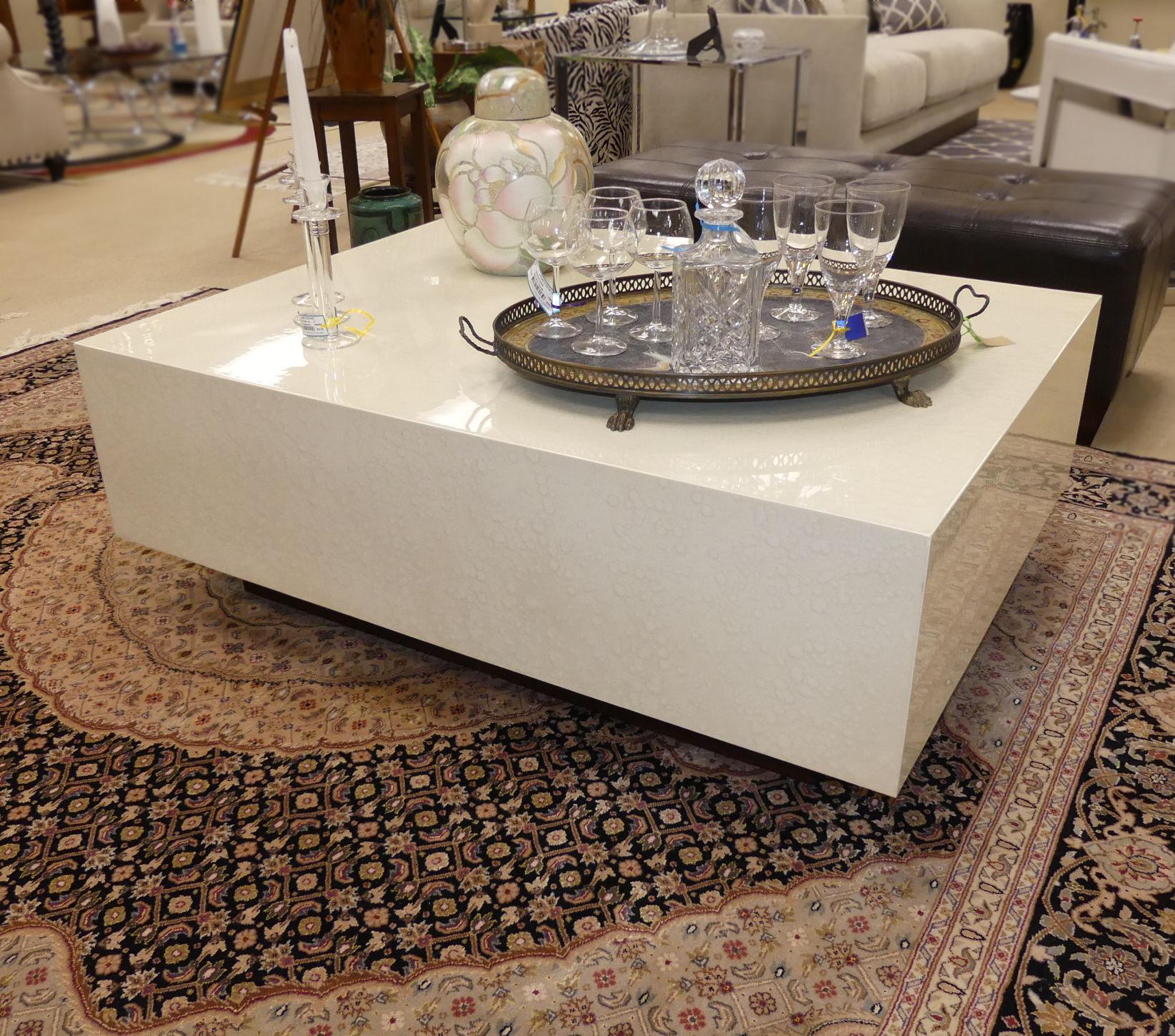 SOLD  Bernhardt Interiors Pearl Coffee Table