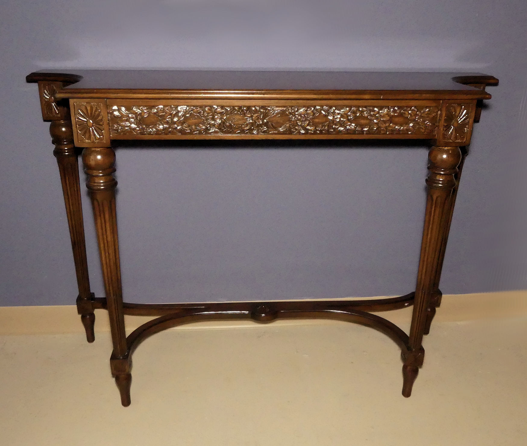 SOLD  Carved Wood Italian Neoclassical Console Table