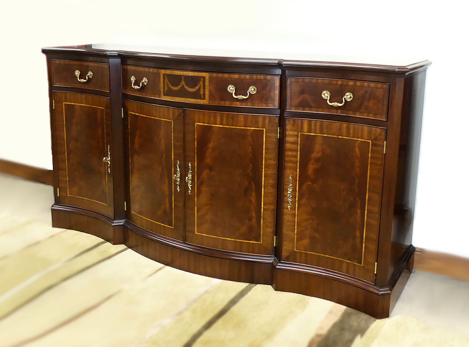 SOLD  Henkel Harris Mahogany Breakfront Credenza or Buffet