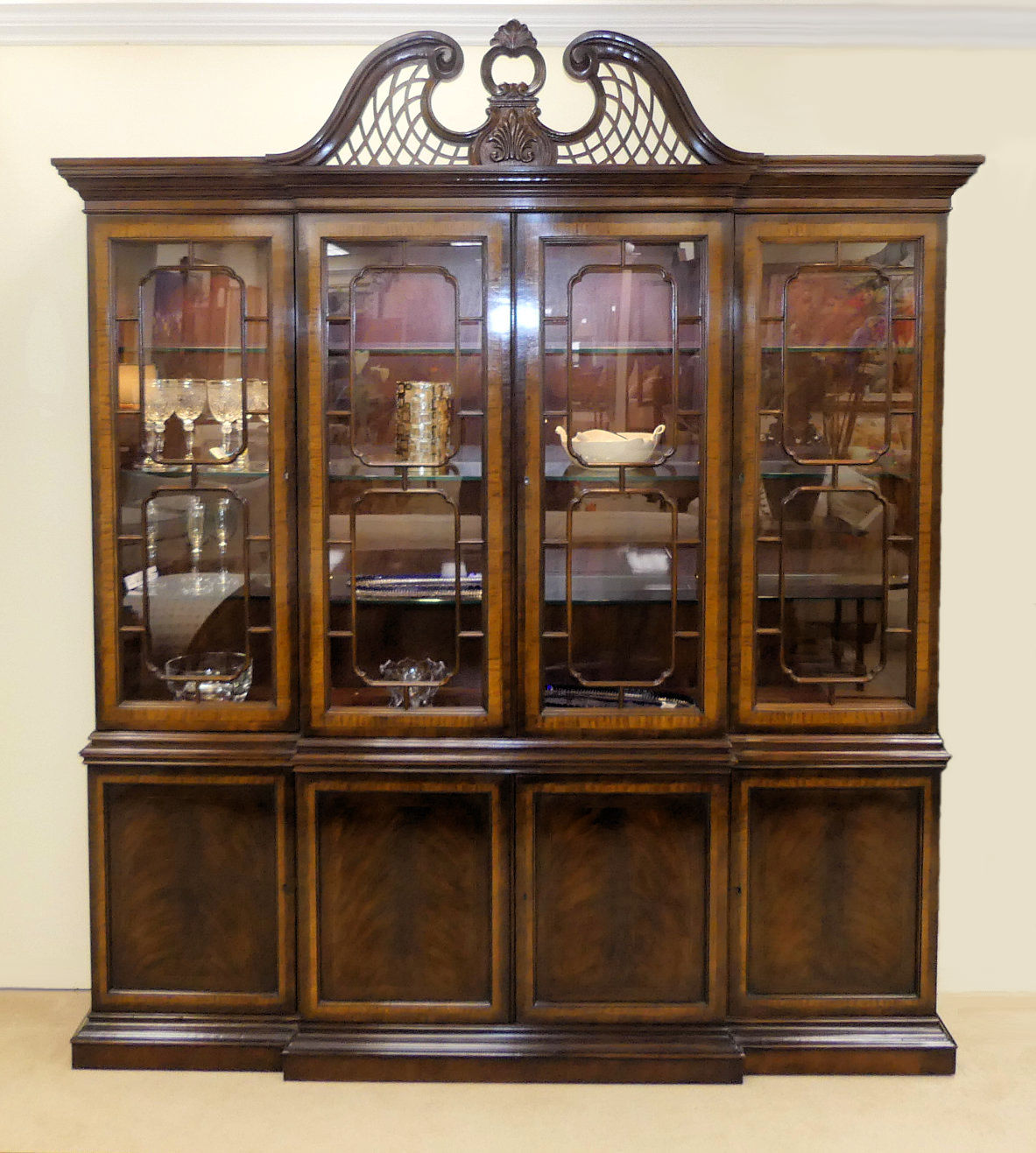 SOLD  Drexel Heritage Heirloom Collection Mahogany China Cabinet