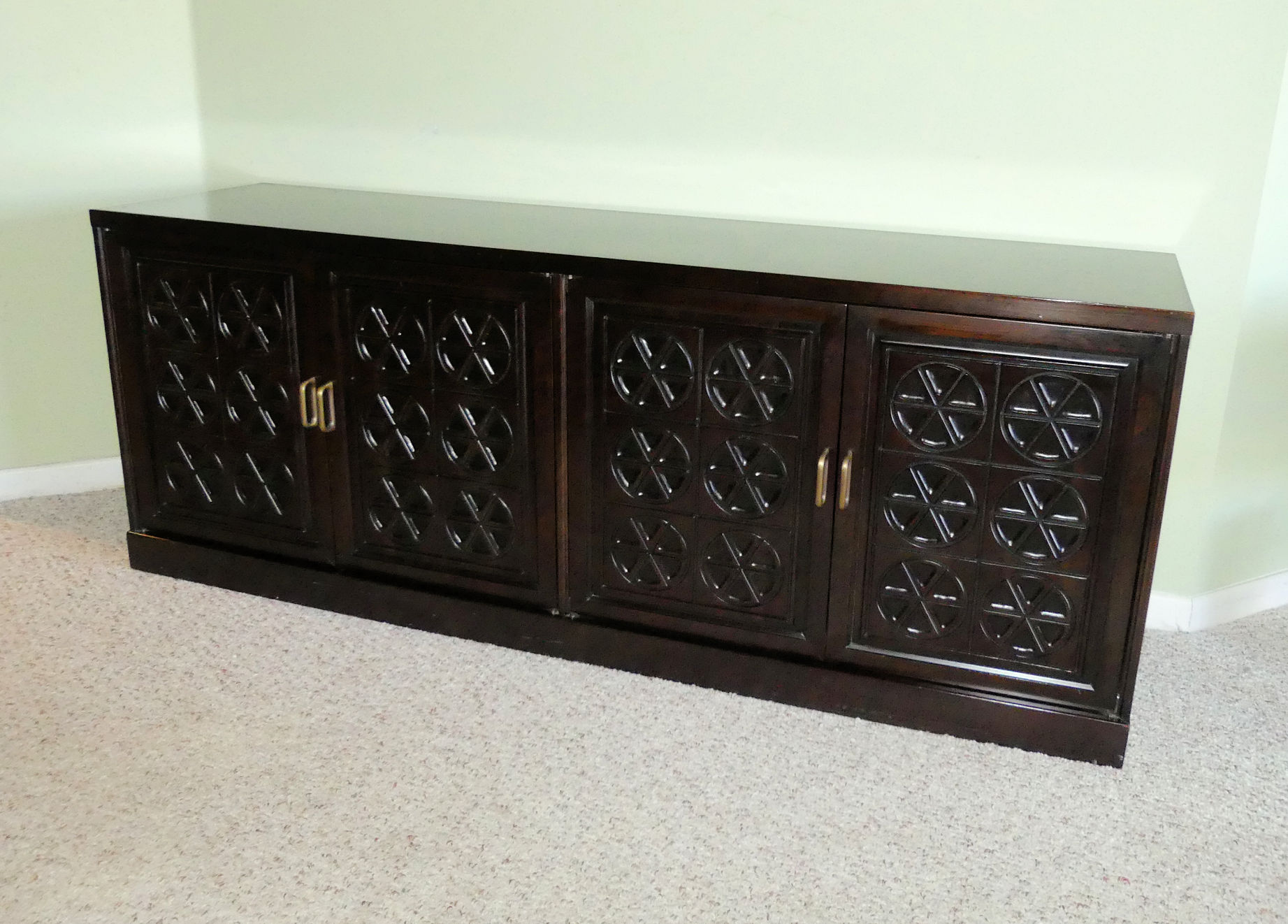 Mid-Century Mahogany Buffet or Credenza by Johnson Furniture for Directional