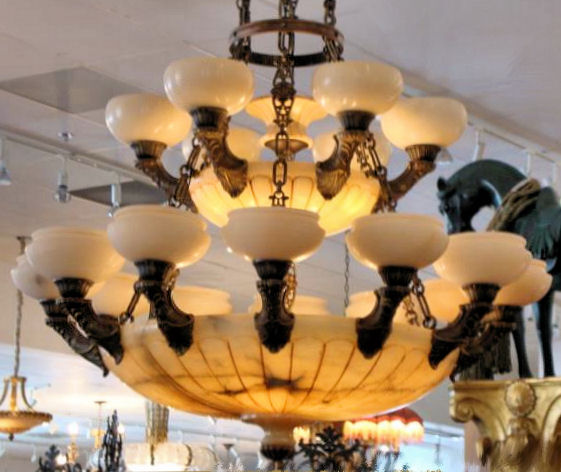 Large Alabaster Chandelier