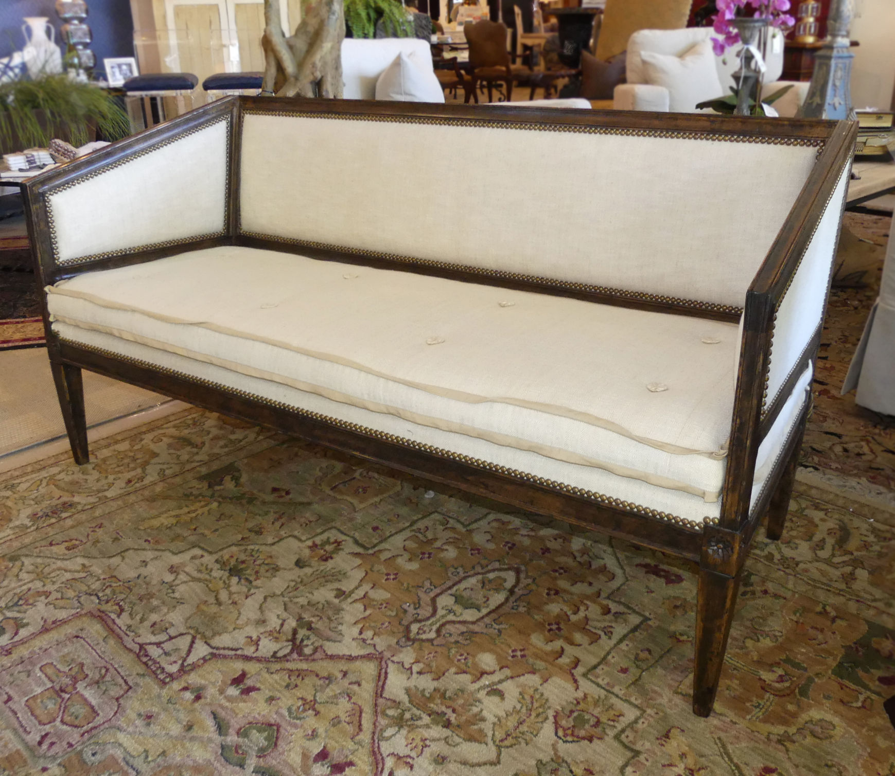 SOLD Minton-Spidell French Louis XVI Settee