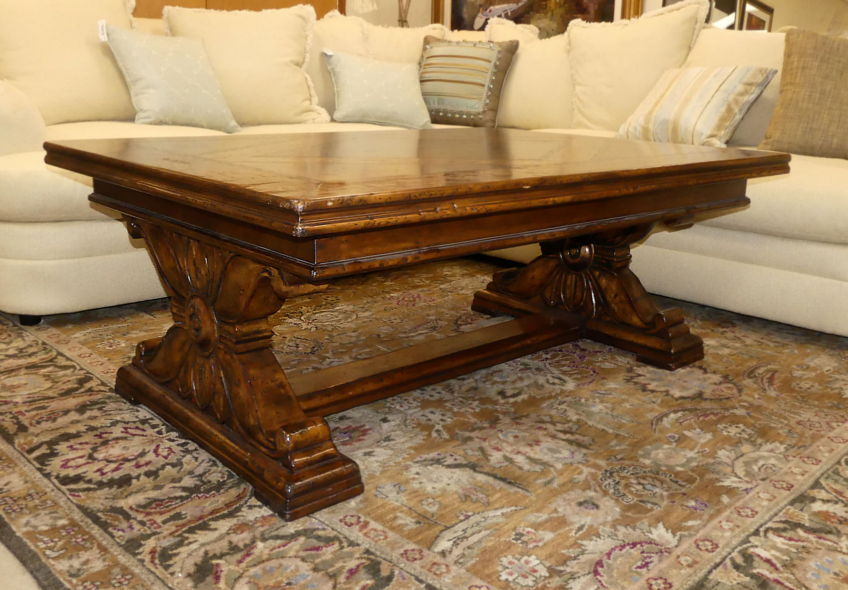 SOLD  Rustic Old World Style Coffee Table