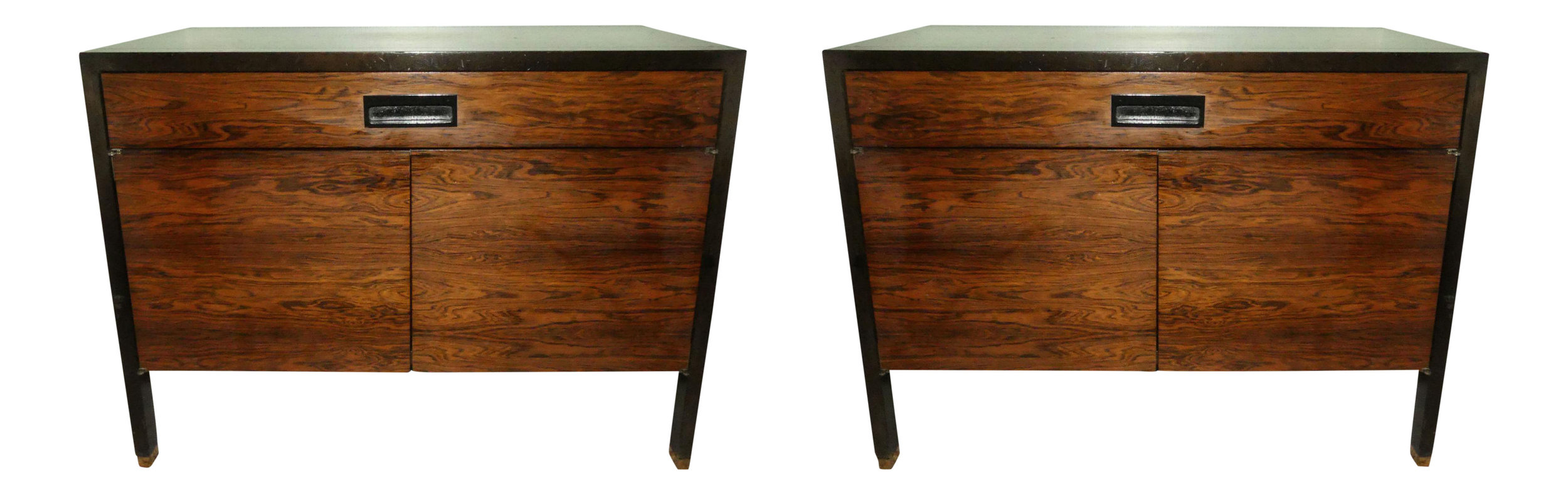 Pair of 2 Mid-Century Modern Harvey Probber Rosewood Nightstands