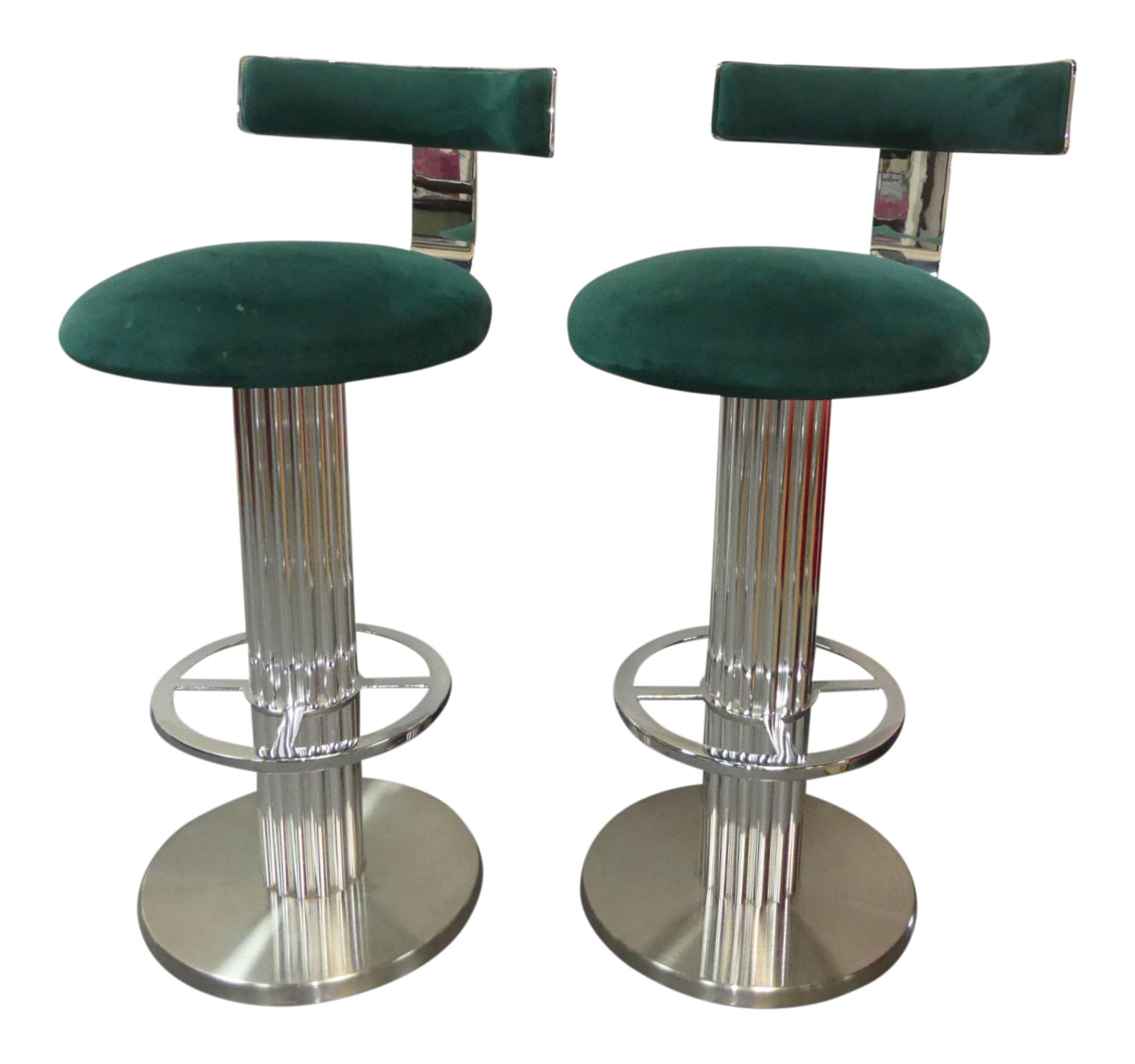 SOLD A Pair of Design for Leisure Excalibur Bar Stools