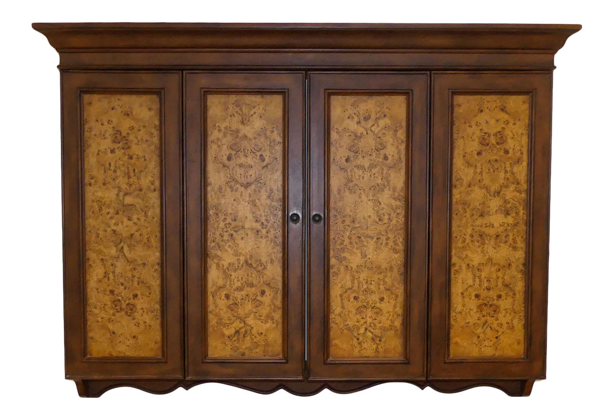 SOLD  Horchow Wall Mount Flat Screen TV Cabinet