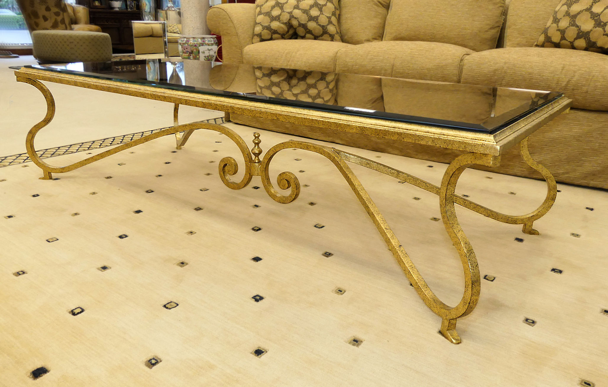 SOLD  Murray's Iron Works Hand Forged Cartier Coffee Table