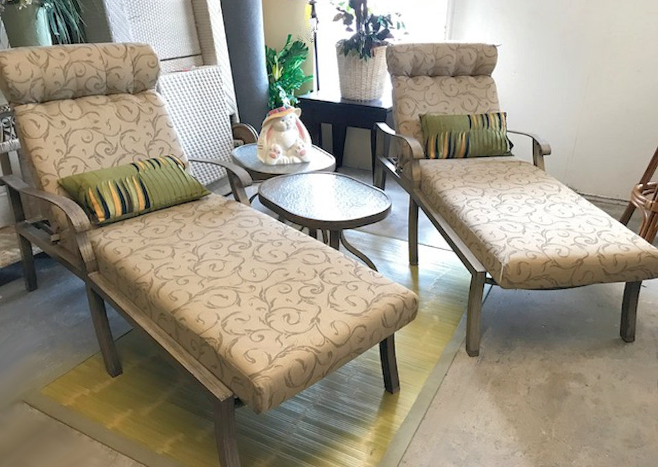 SOLD Pair of 2 Woodard Outdoor Patio Chaise Lounges