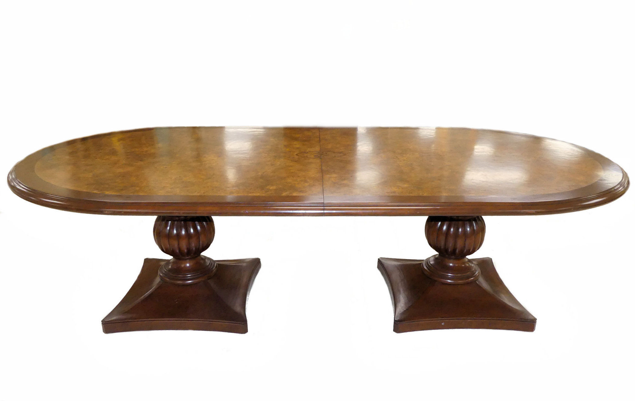 SOLD Emanuel Morez Chadwick Double Pedestal Dining Table