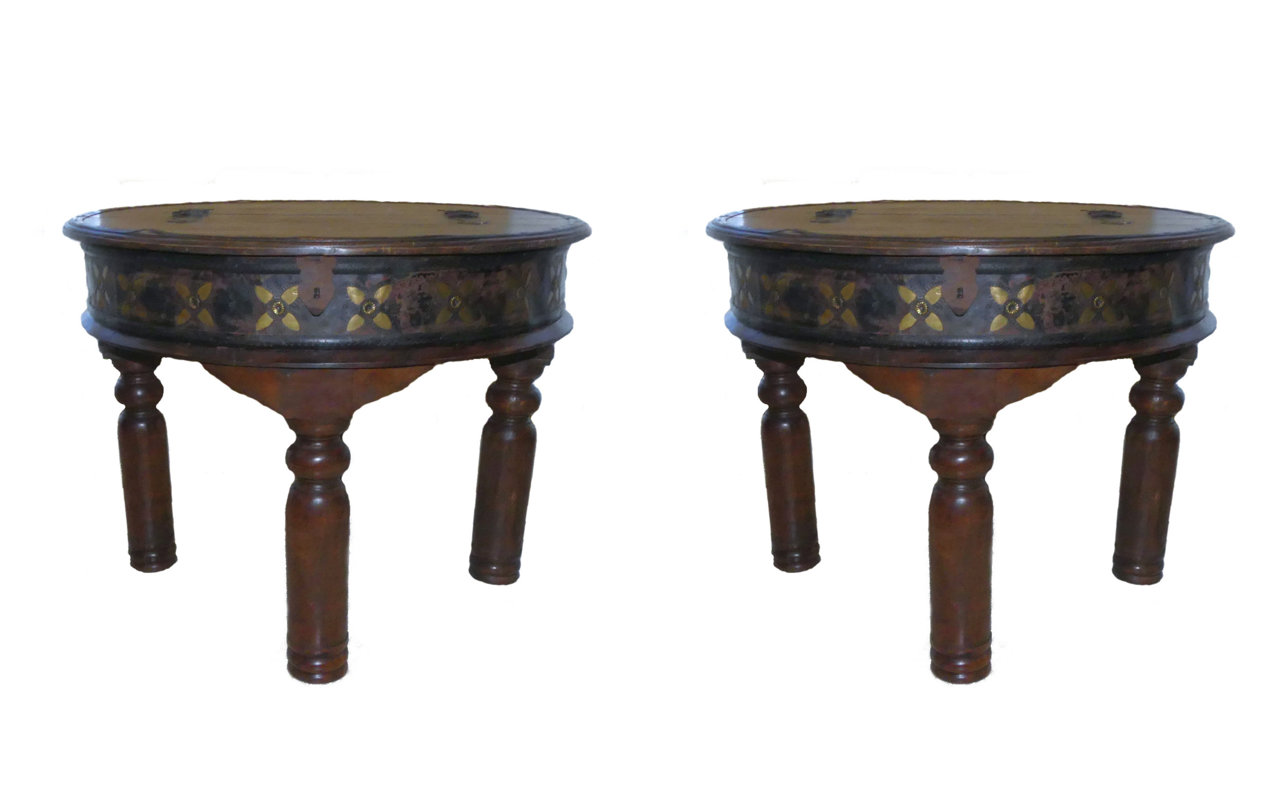 SOLD  Pair of 2 Rustic End Tables with Storage