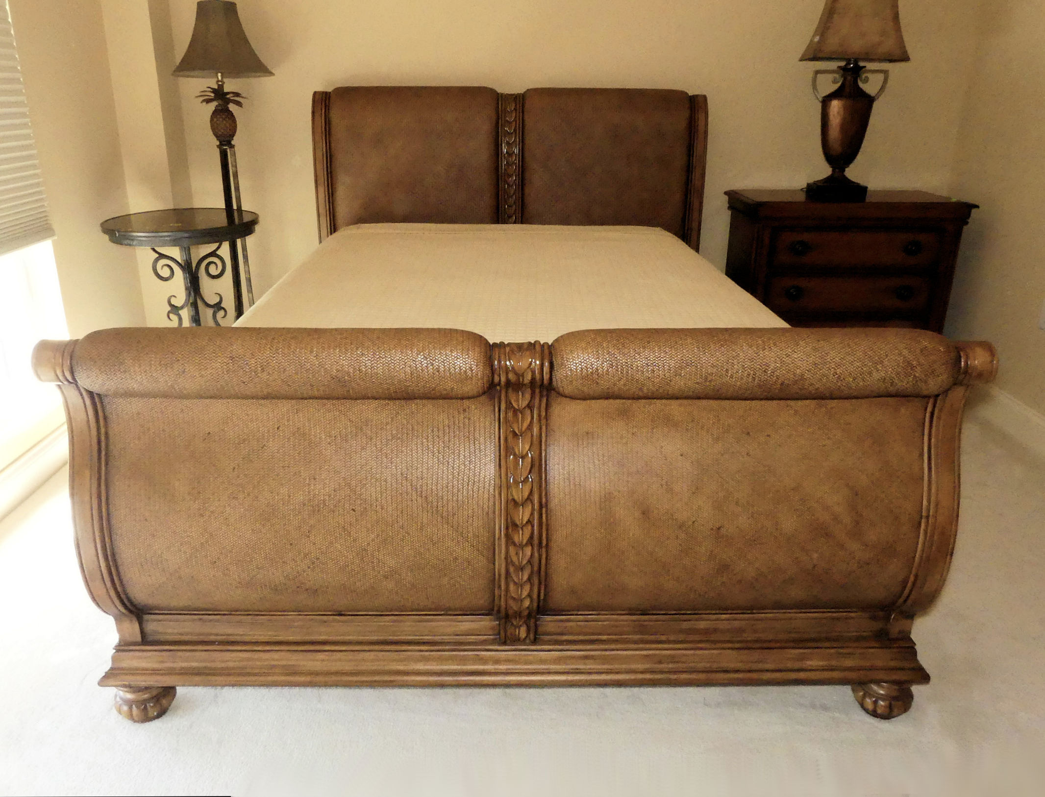 Sold - Tommy Bahama Queen Sleigh Bed