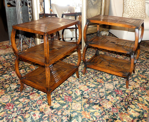SOLD  Henredon Acquisitions Capelle Chairside Tables