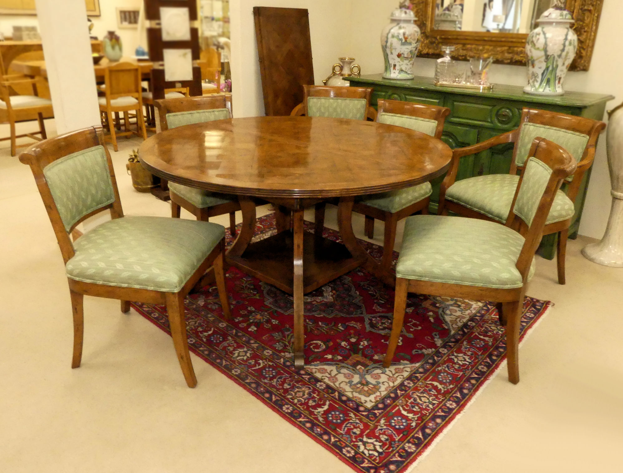 SOLD Guy Chaddock 7-Piece Dining Set