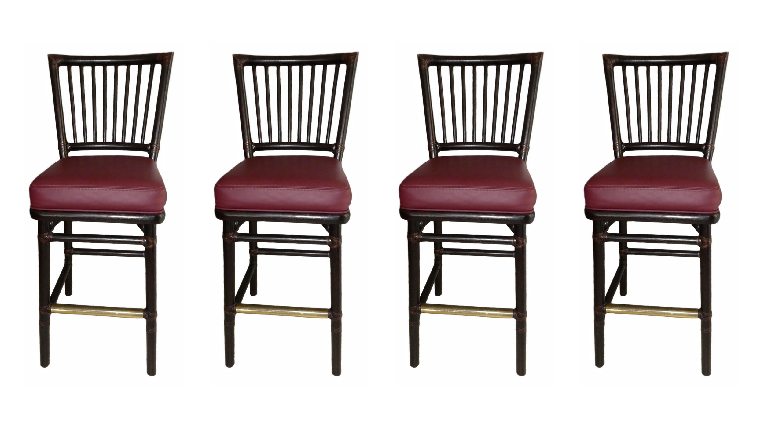 SOLD Set of 4 McGuire Prescott Bar Stools