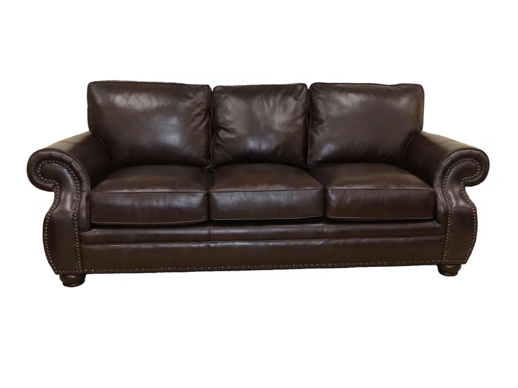 SOLD Bernhardt Furniture Leather Sofa