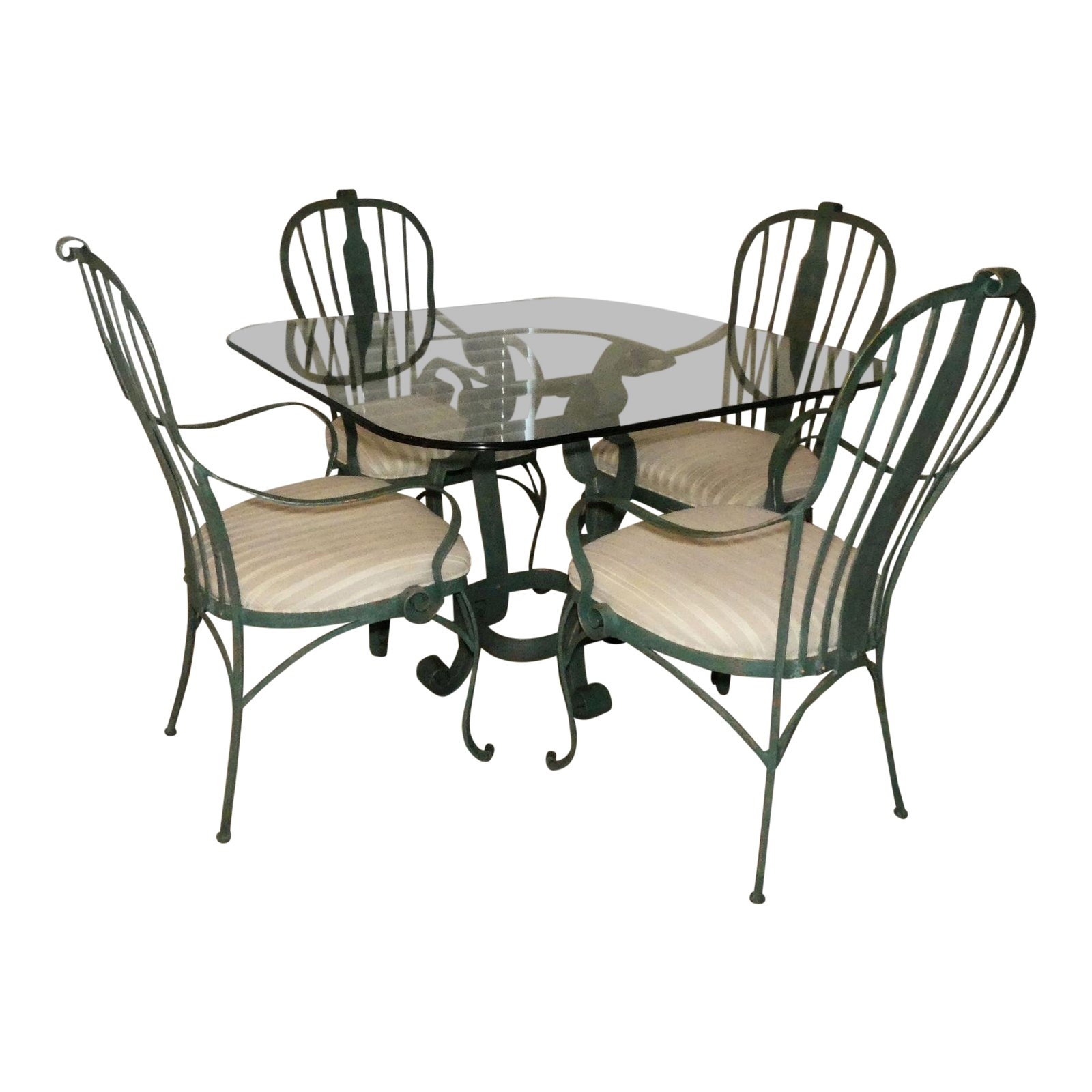 SOLD Hooker Furniture Verdigris Wrought Iron Dining Se