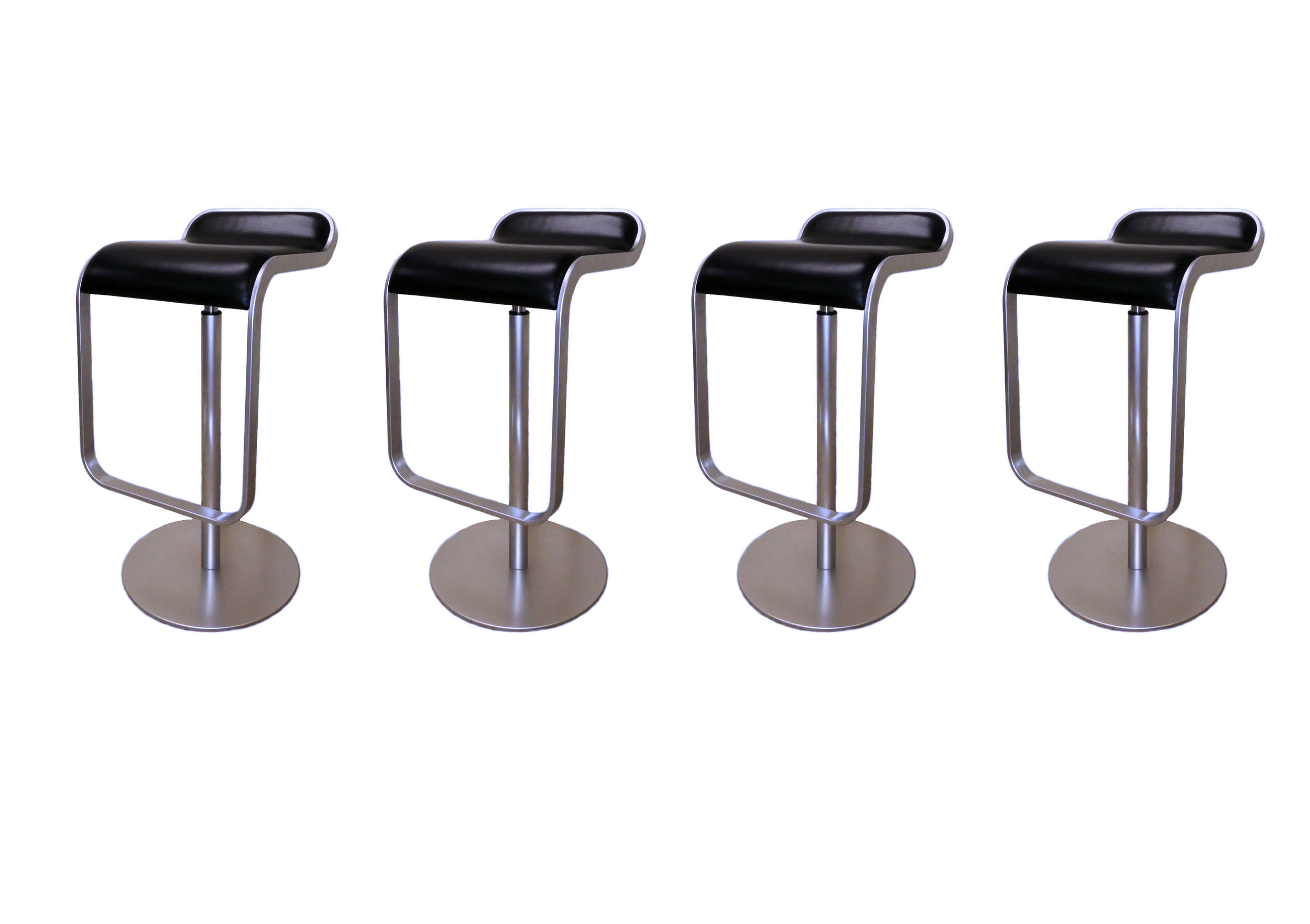 SOLD Set of 4 Lapalma LEM Leather Adjustable Swivel Counter/Bar Stools