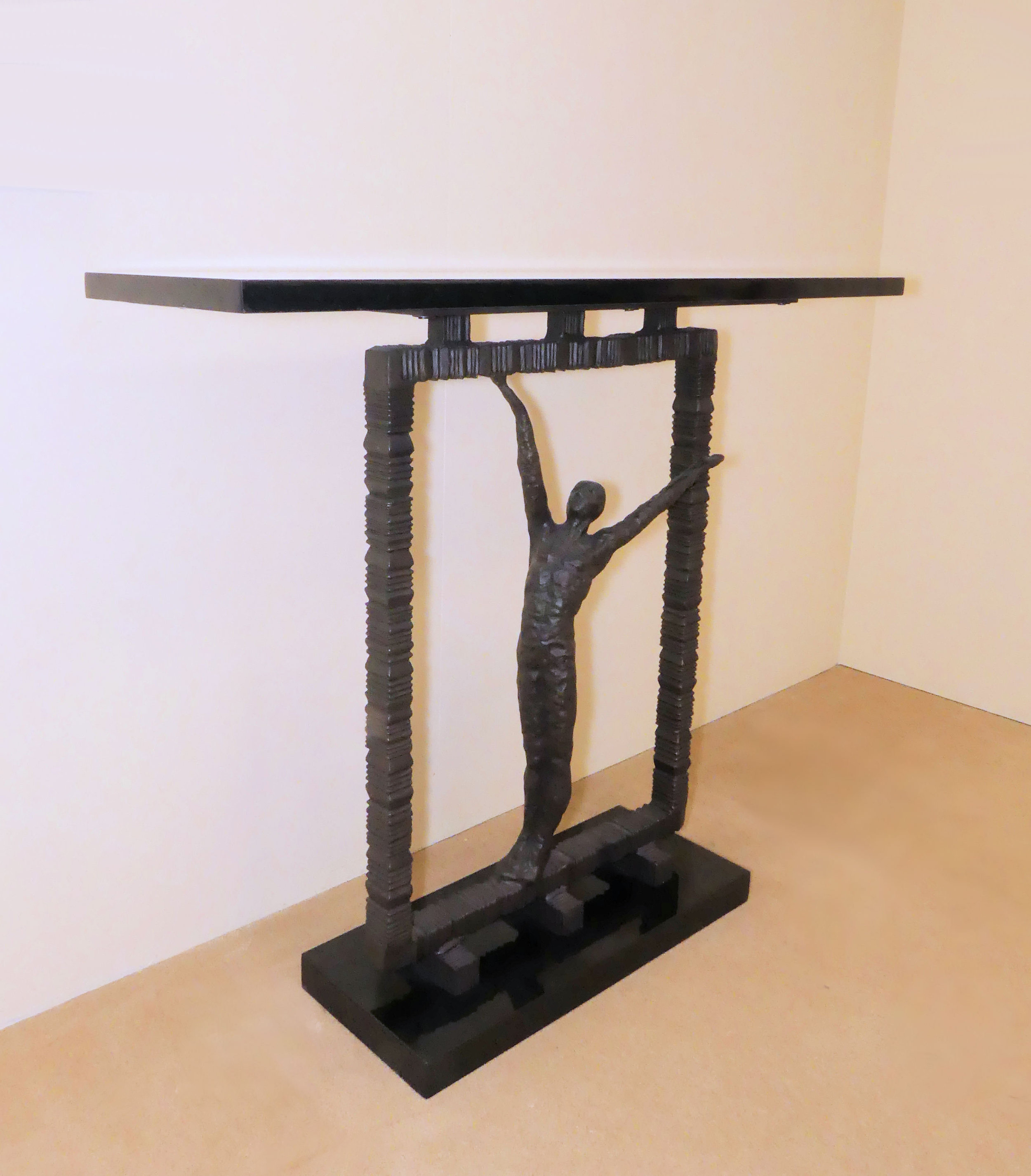 "SOLD Global Views ""Reach Out Of The Box"" Console Table"