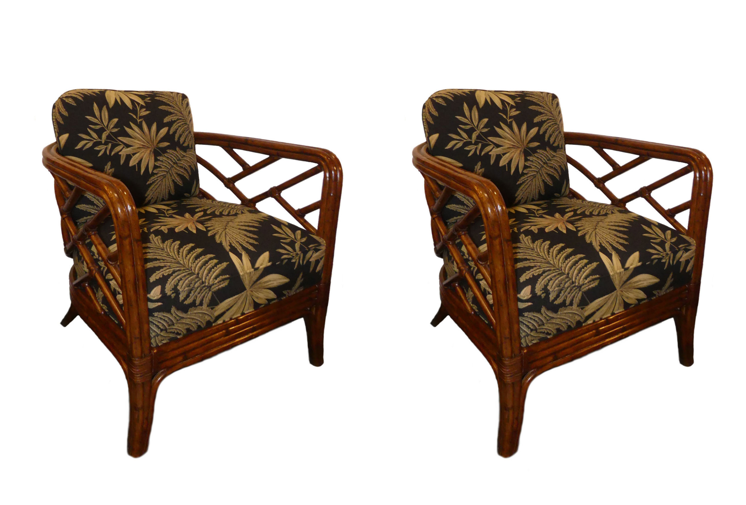 SOLD  Pair of 2 Tommy Bahama Home Palms Club Chairs