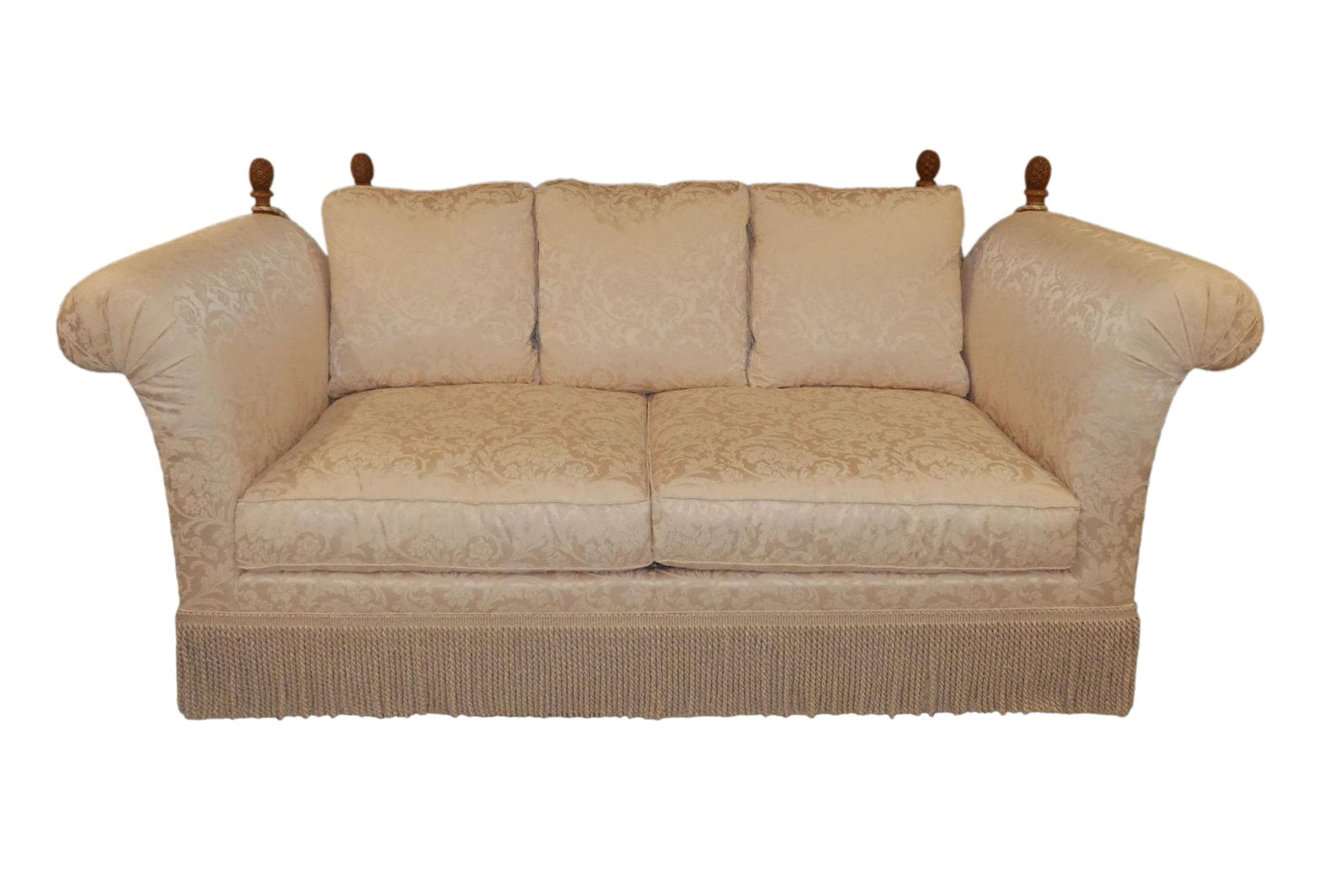 SOLD Taylor King Rolled Arm Knoll-Style Sofa