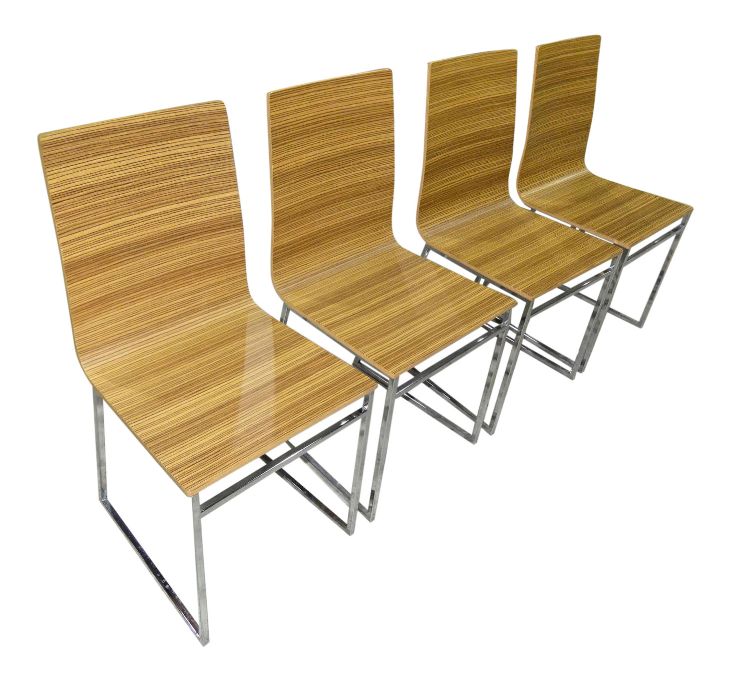 Modern Zebra Wood Chairs Made in Italy by Biebi