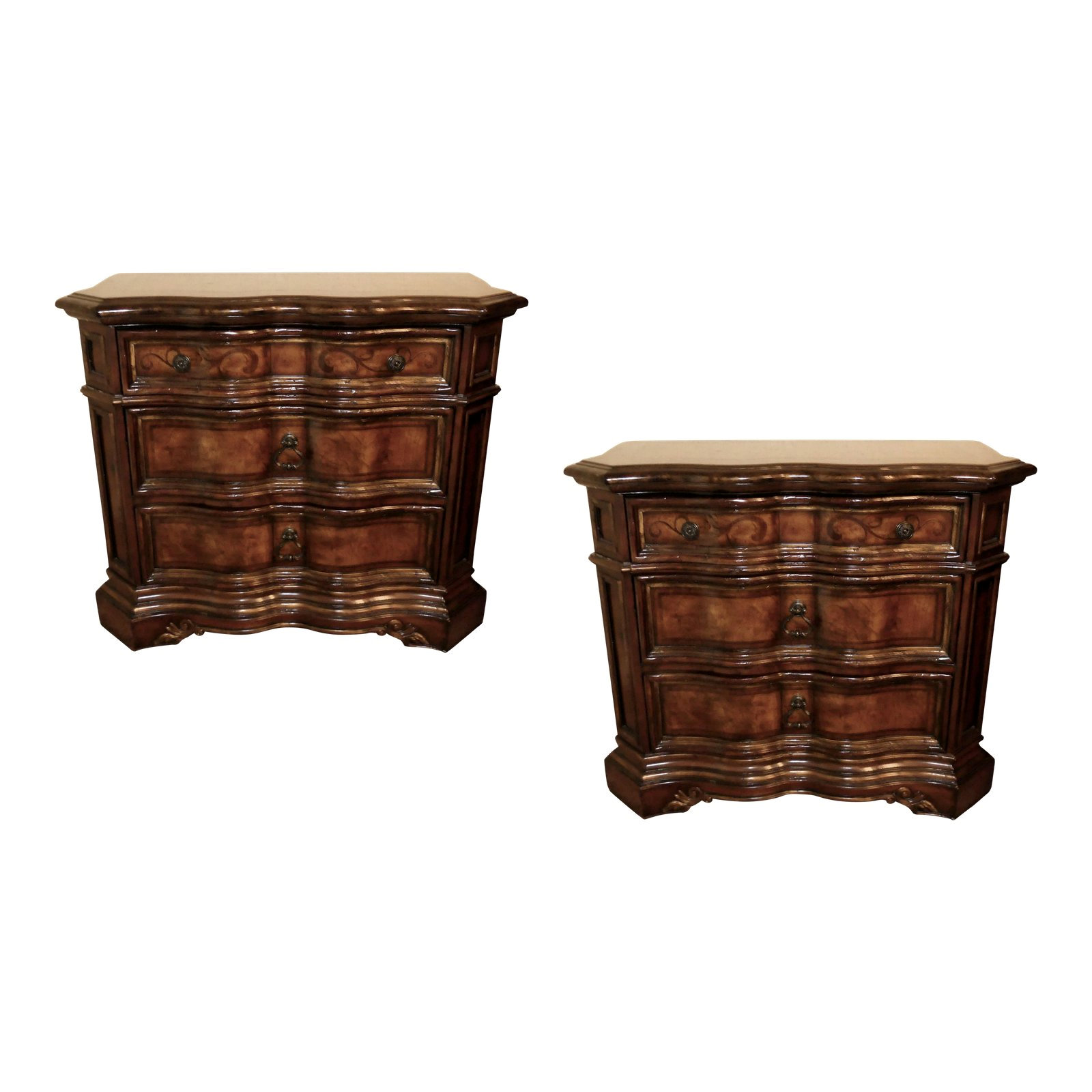 SOLD Pair of 2 Hooker Furniture Beladora Nightstands