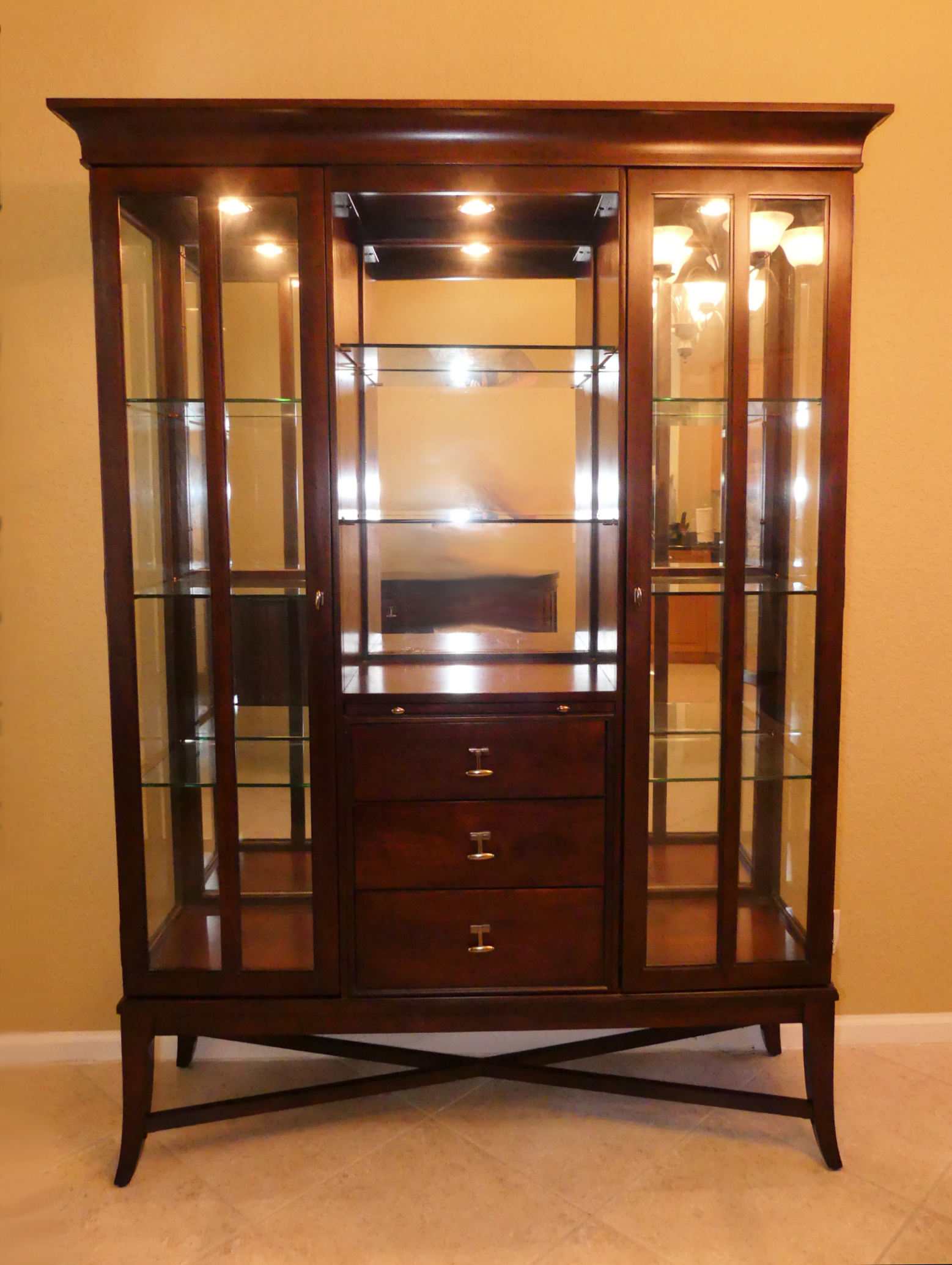 SOLD  Universal Furniture Contemporary Lighted China Cabinet