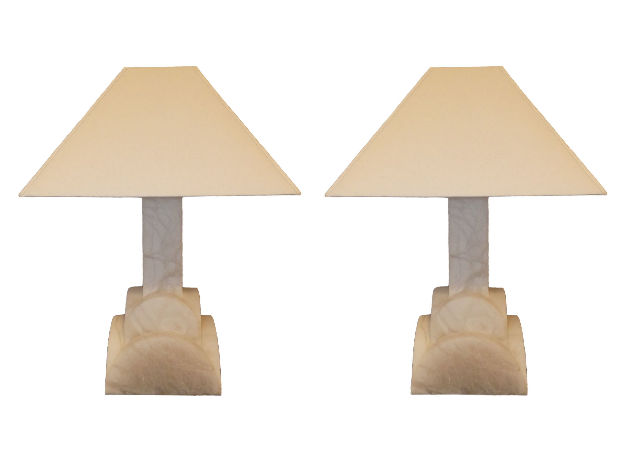 SOLD Pair of 2 Frederick Cooper Alabaster Lamps