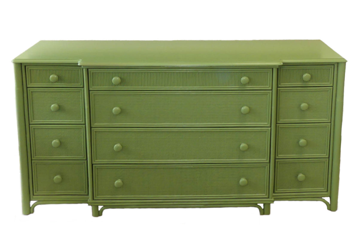 SOLD   Braxton Culler 12-Drawer Dresser in Kiwi