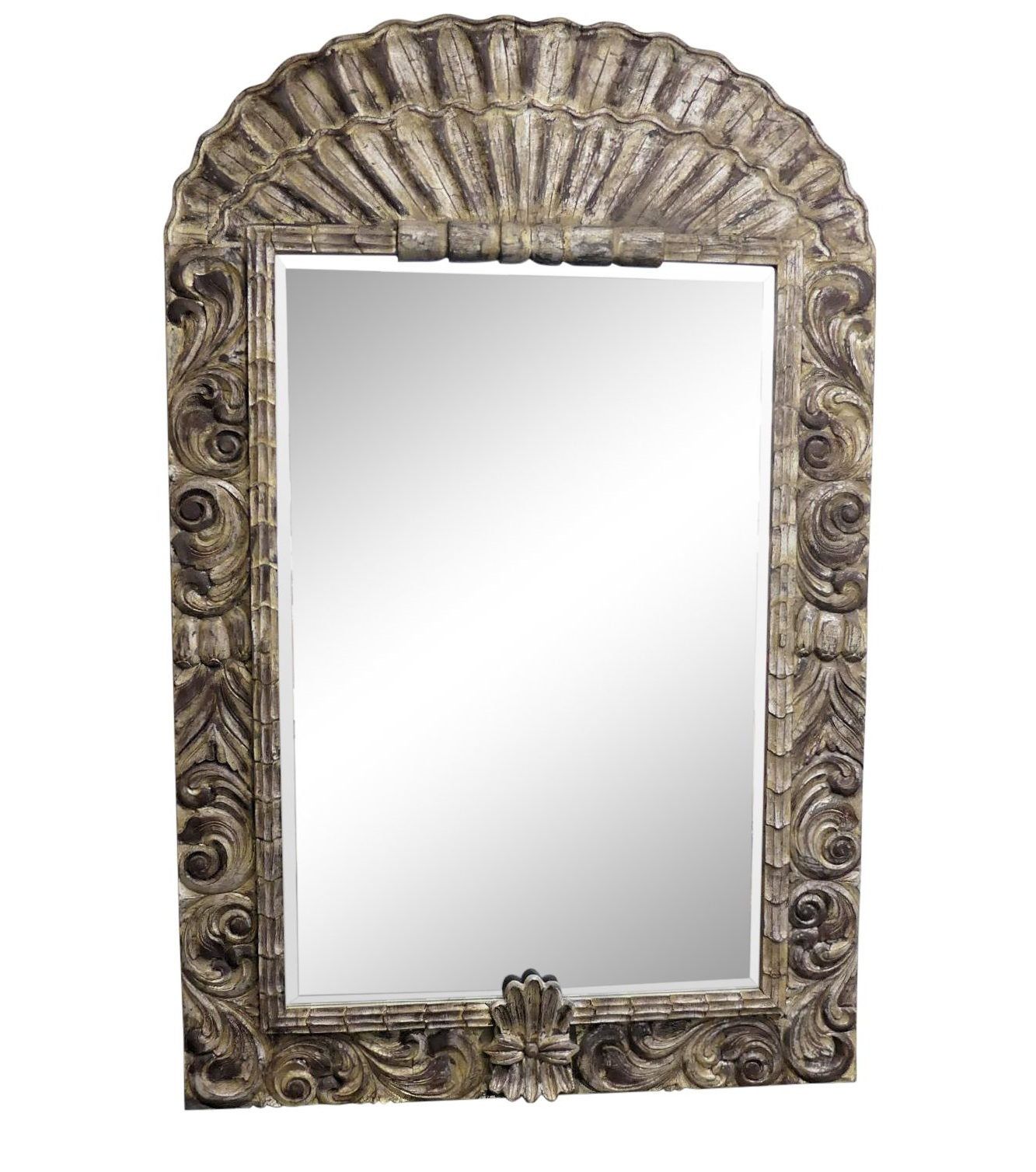 SOLD LaBarge Grand-Scale Carved Wood Mirror