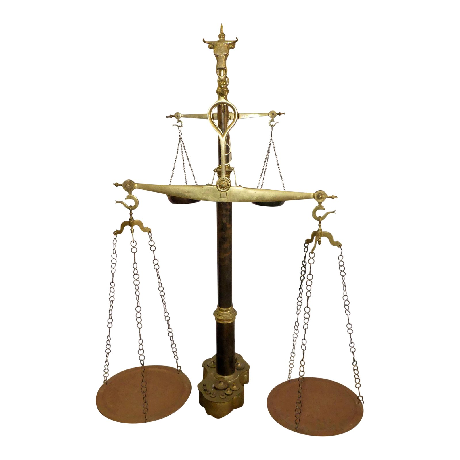 Large 2-Tier Brass Butcher's Shop Scale $2,995