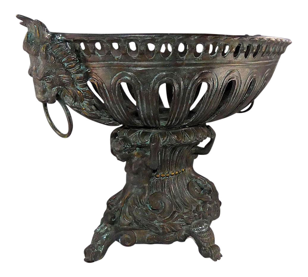 Maitland Smith Bronze Centerpiece Urn