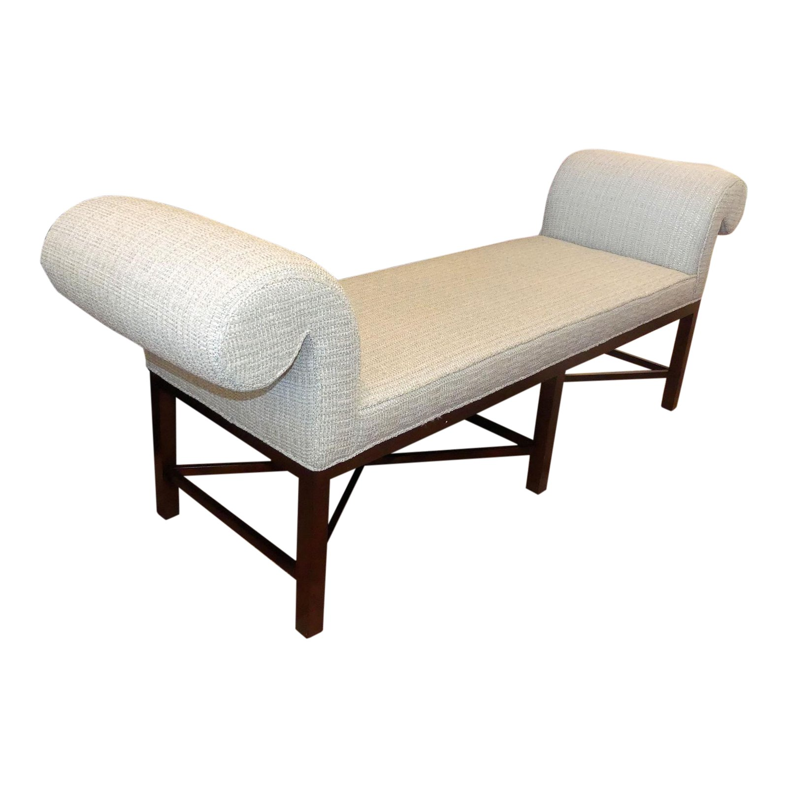 Baker Furniture Contemporary Rolled Arm Bench
