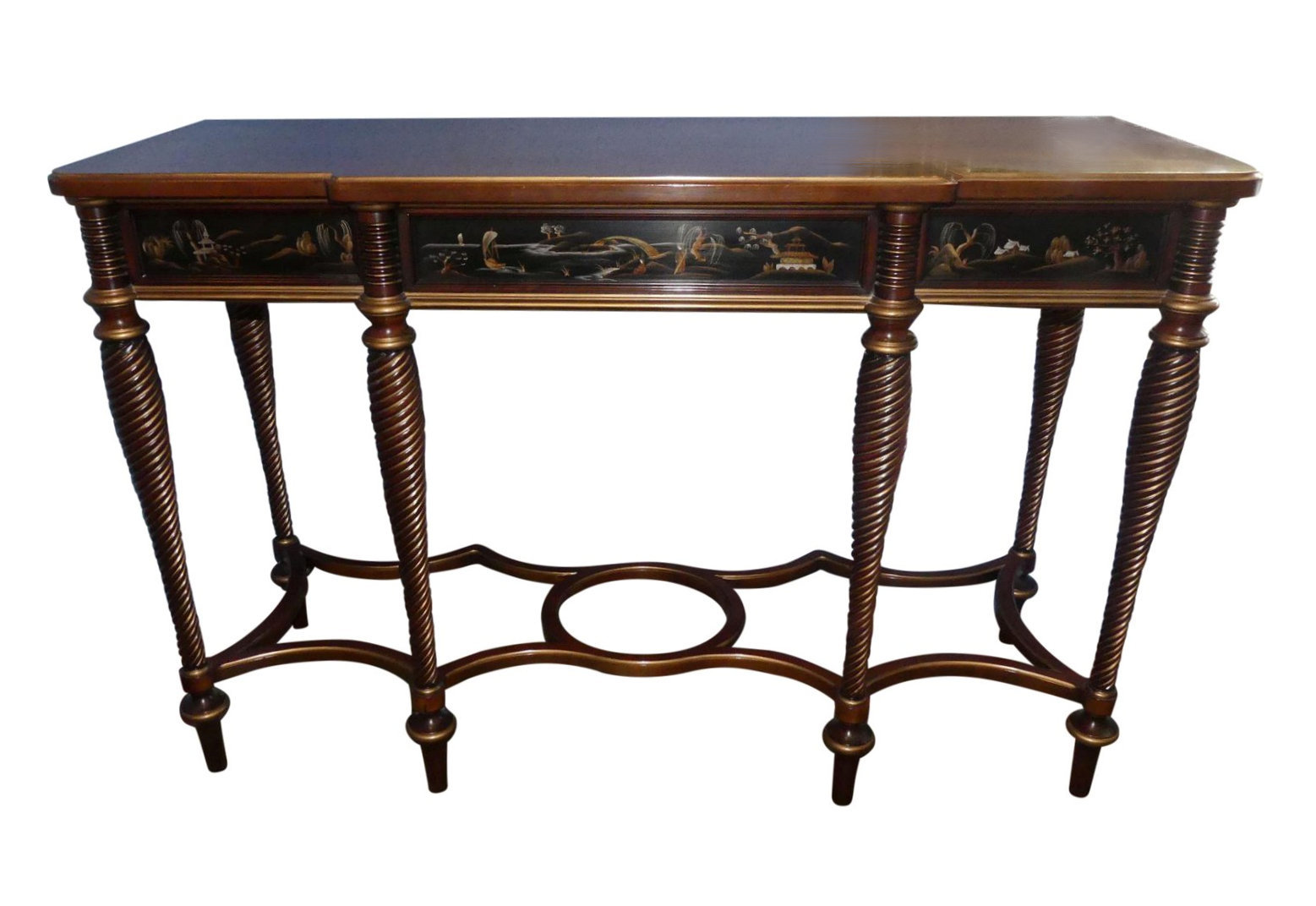 SOLD John Widdicomb Chinoiserie Console Table