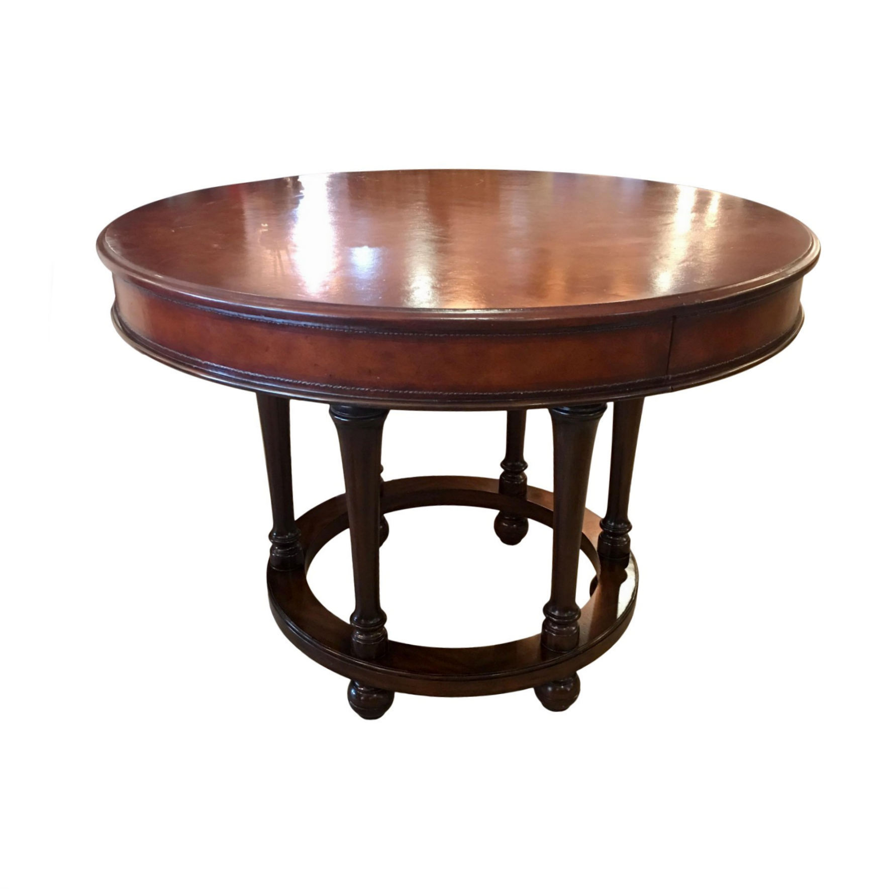 SOLD Ralph Lauren Leather Top Accent Table