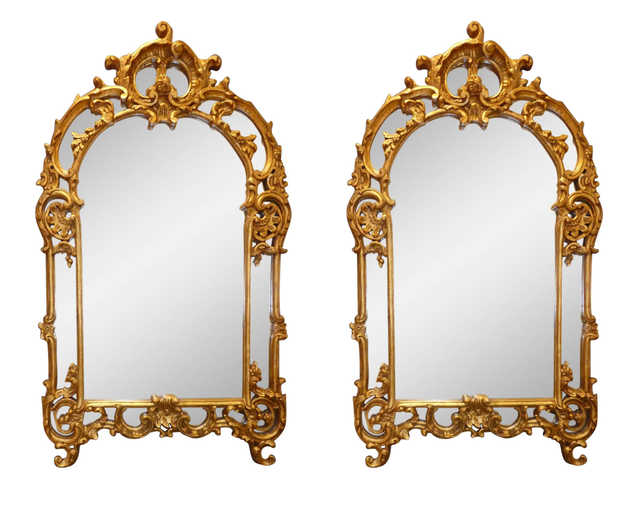 SOLD Pair of LaBarge Giltwood Mirrors 34x59