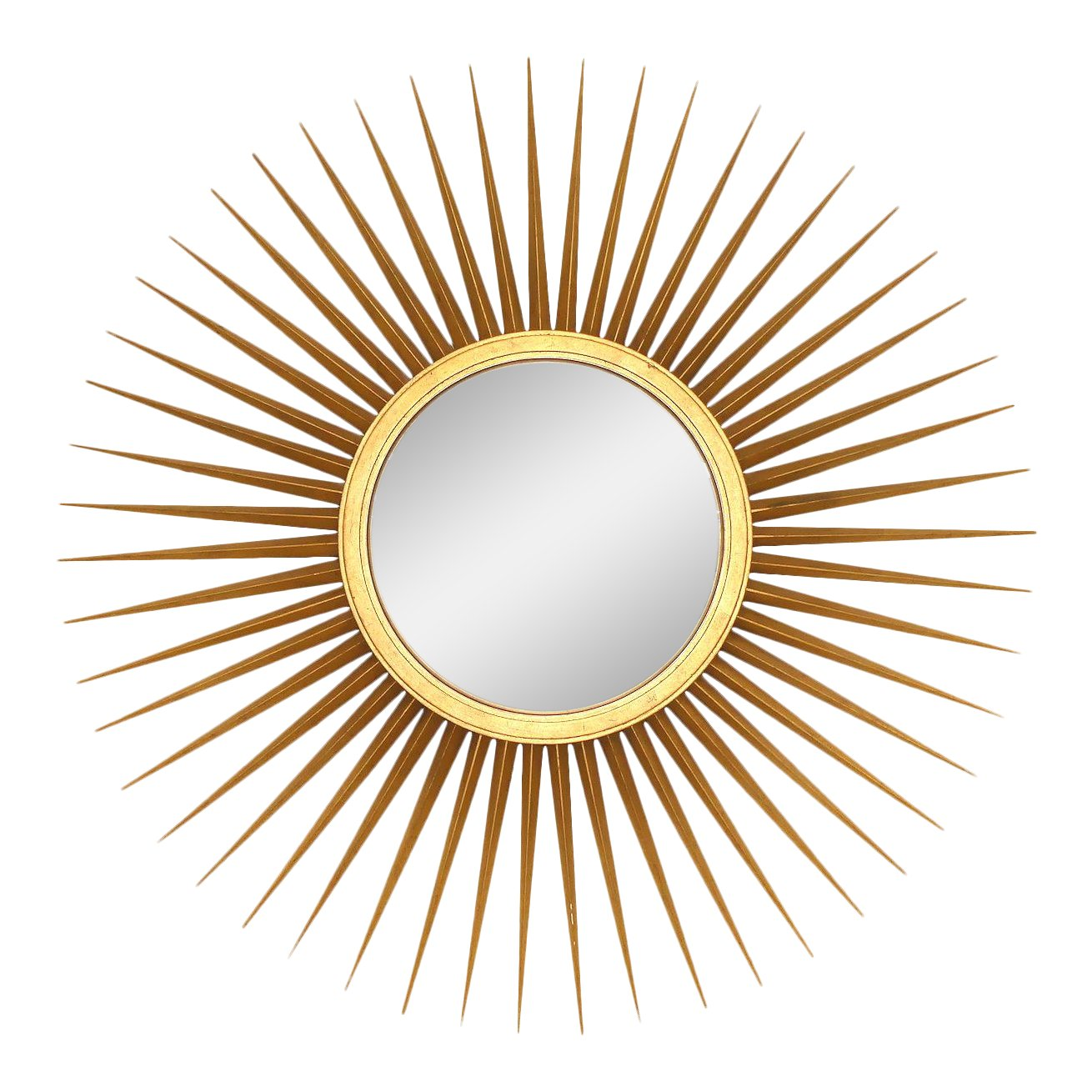 "SOLD Baker Parish-Hadley 46"" Sunburst Giltwood Mirror"