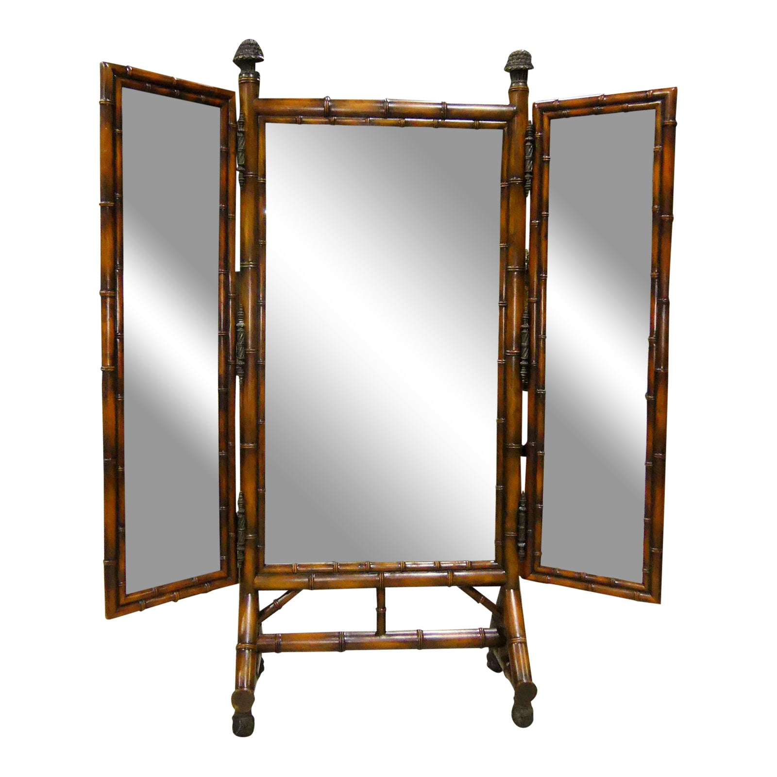 Theodore Alexander Faux Bamboo Mirror