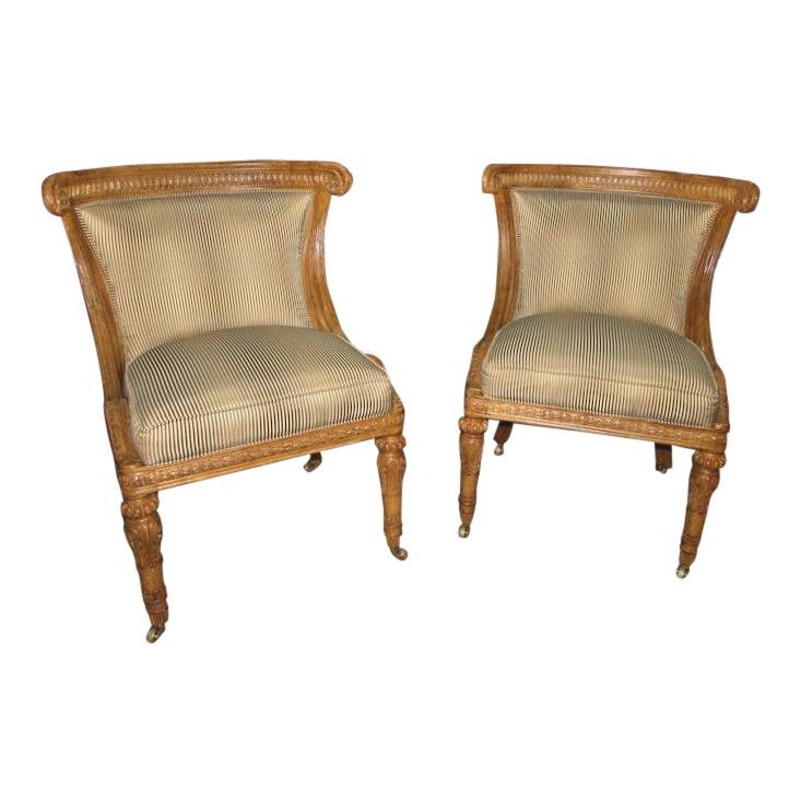 Pair of 2 Ferguson Copeland Livorno Regency Style Chairs
