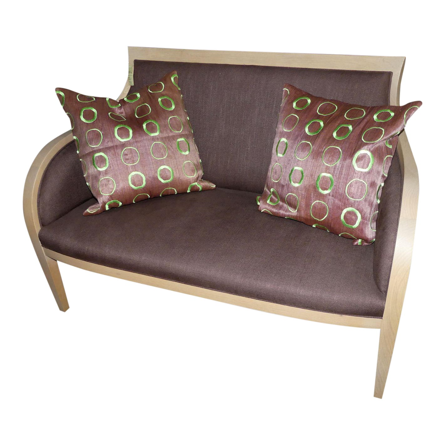 Ash and Linen Settee or Love Seat