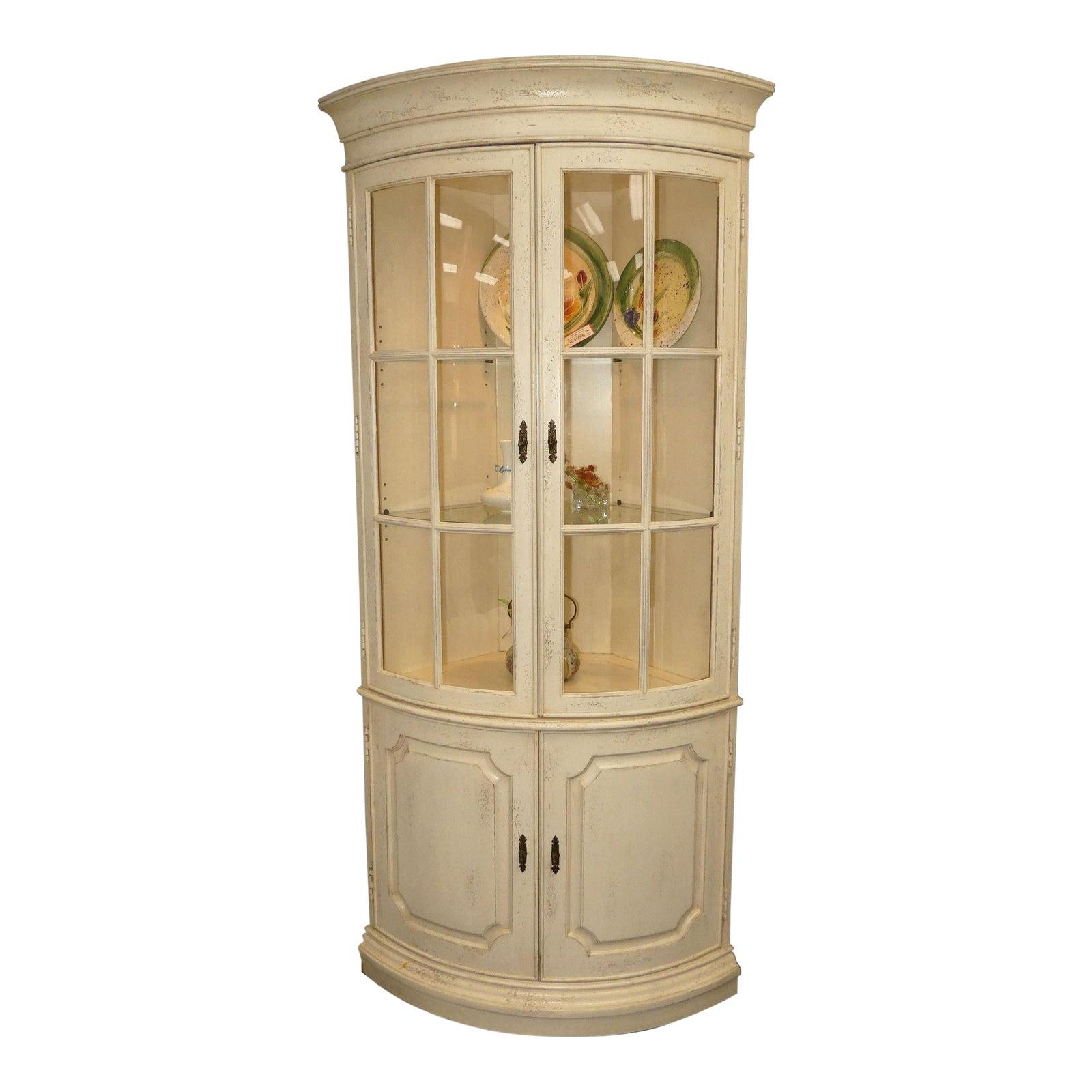 Drexel Heritage Bow-Front Corner Cabinet