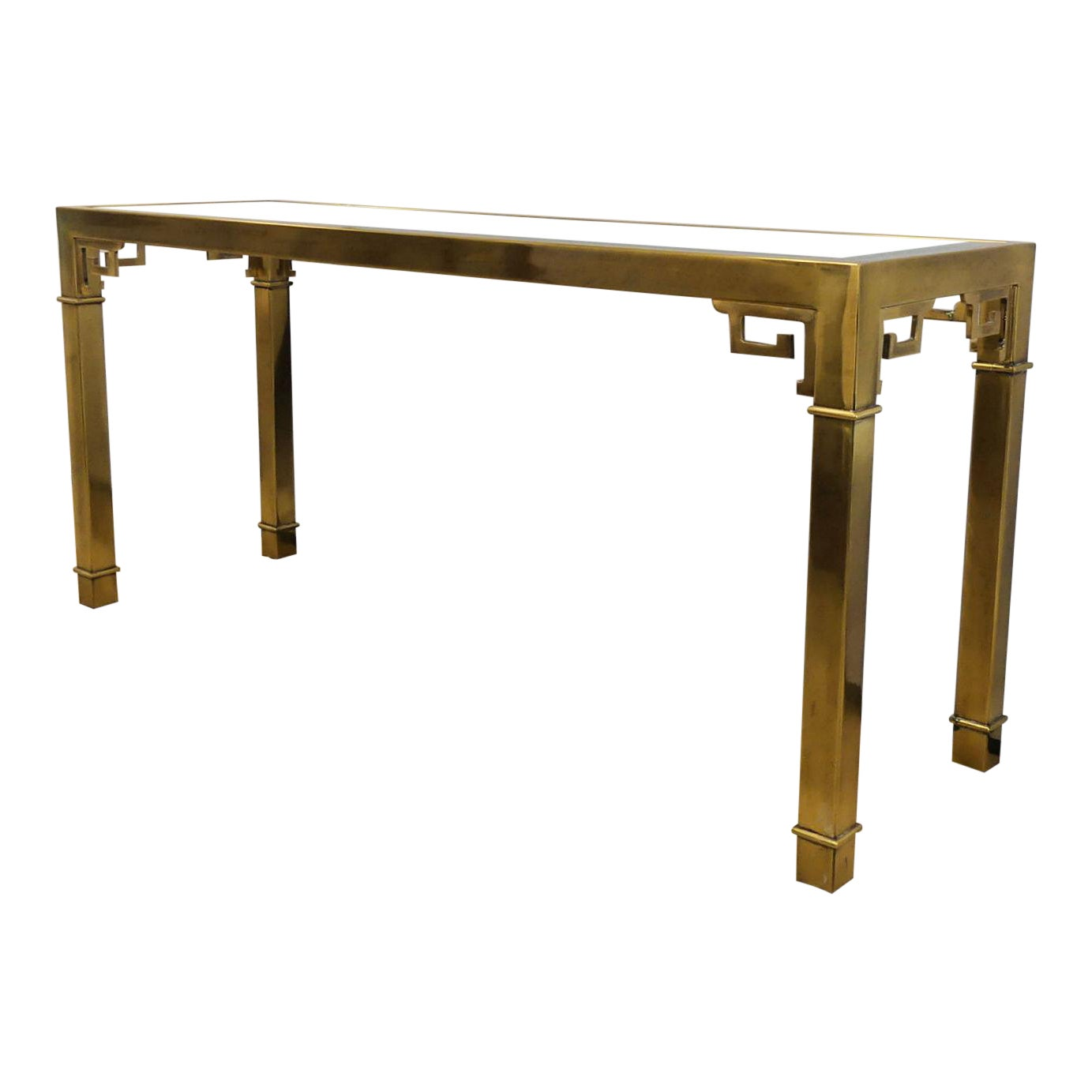 SOLD Mastercraft Asian Modern Console Table